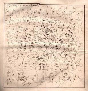 Johann Caspar Lavater. Caricatures d'aprés Hogarth.