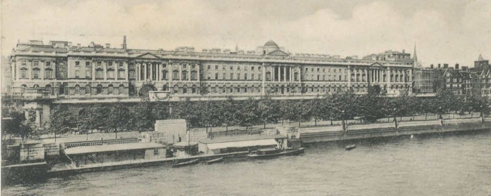 London. Somerset House. 1904 - Cropped
